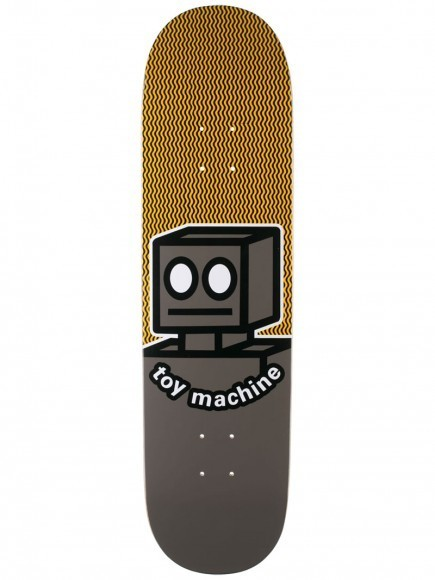 "Toy Machine Robot Grey 8.25"" Deck"