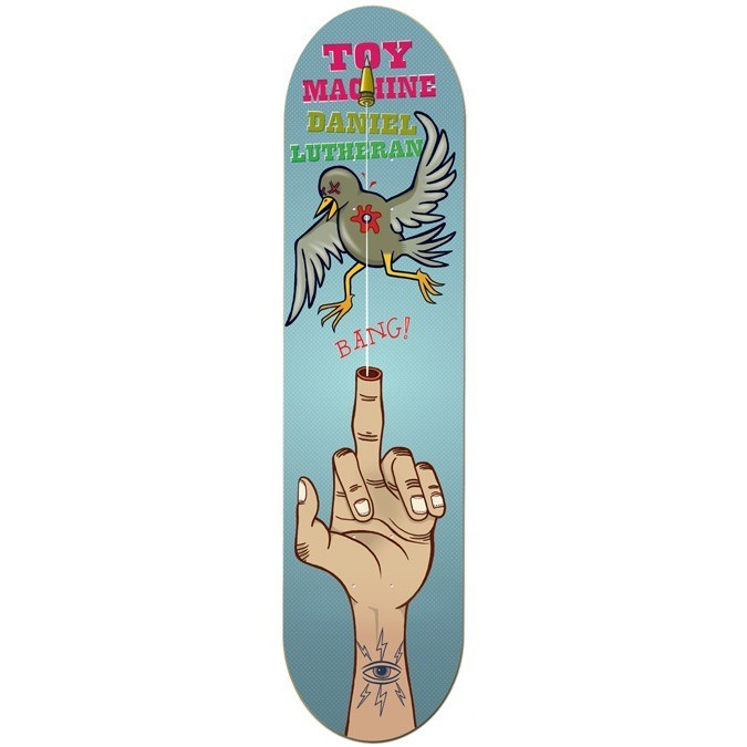 "Toy Machine Lutheran Handgun 8.25"" Deck"