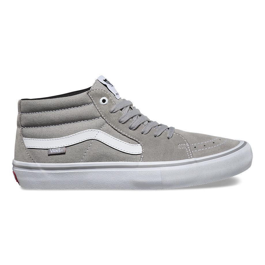 Vans Sk8 Mid Pro Shoe Drizzle/White