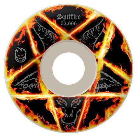 Spitfire Pentagram Wheels  52.5mm 99a