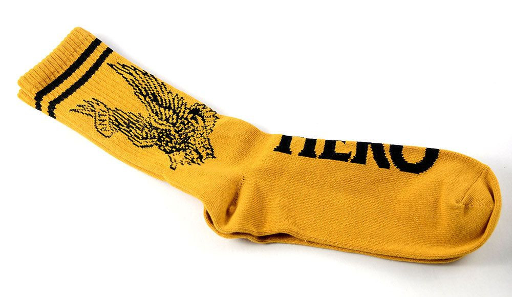 Anti Hero Flying Eagle Sock Mustard/Black