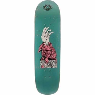 Welcome Magic Bunny on Son of Planchette Deck  Dark Teal 8.38x32