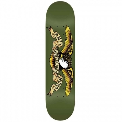 Anti Hero Classic Eagle Deck  Olive Green 8.38x32.56
