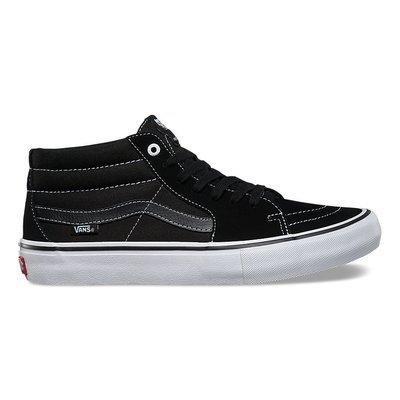 Vans Sk8 Mid Pro Shoe Black/Black/White