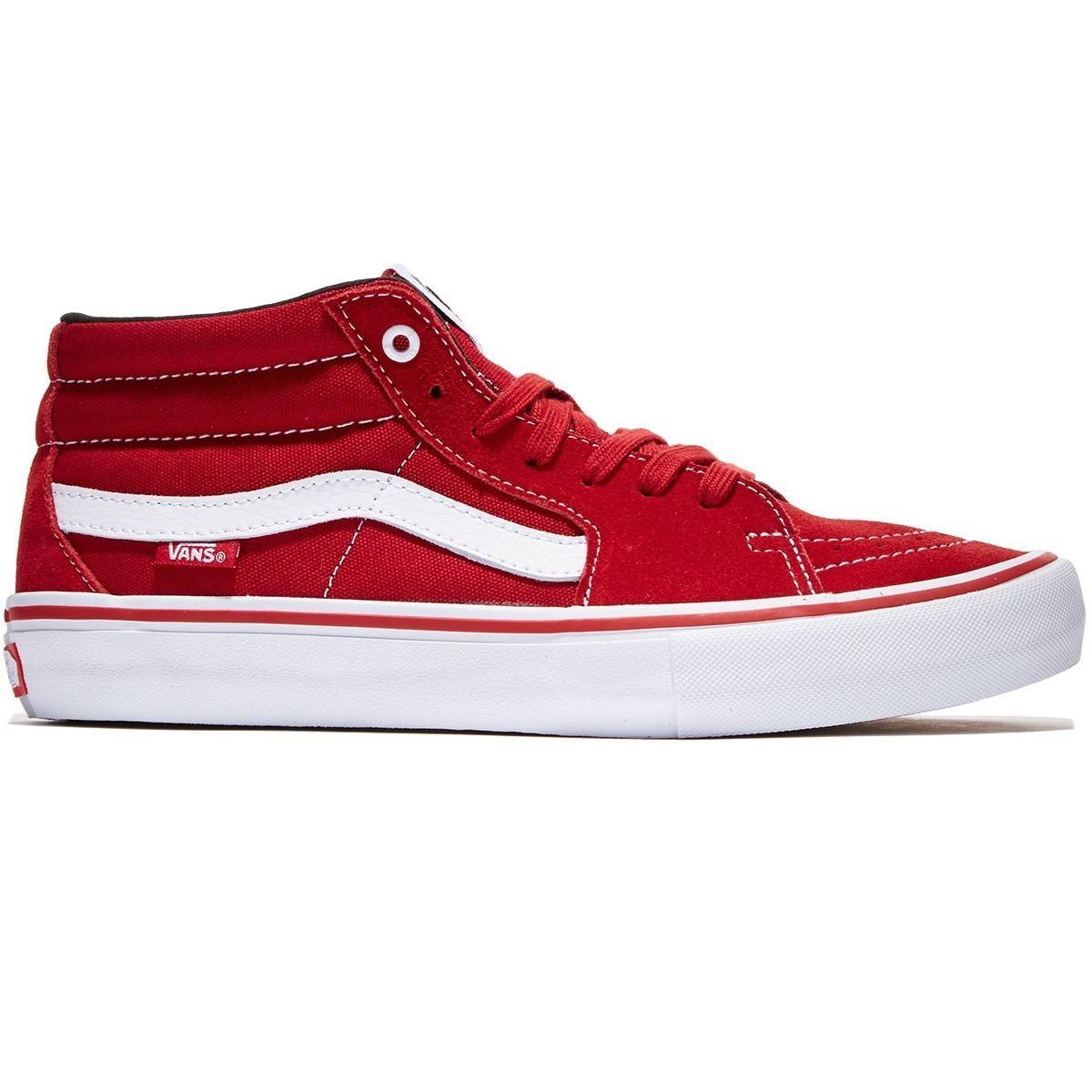 Vans Skate Mid Pro Shoe Skarlet/White