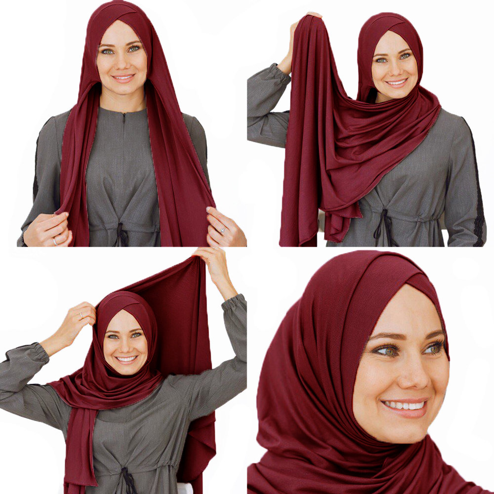 Умный хиджаб бордо