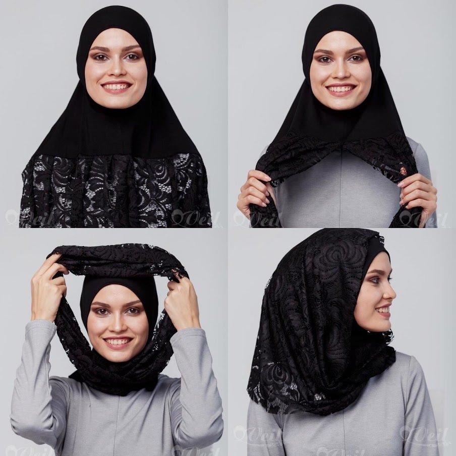 Быстрый хиджаб черный