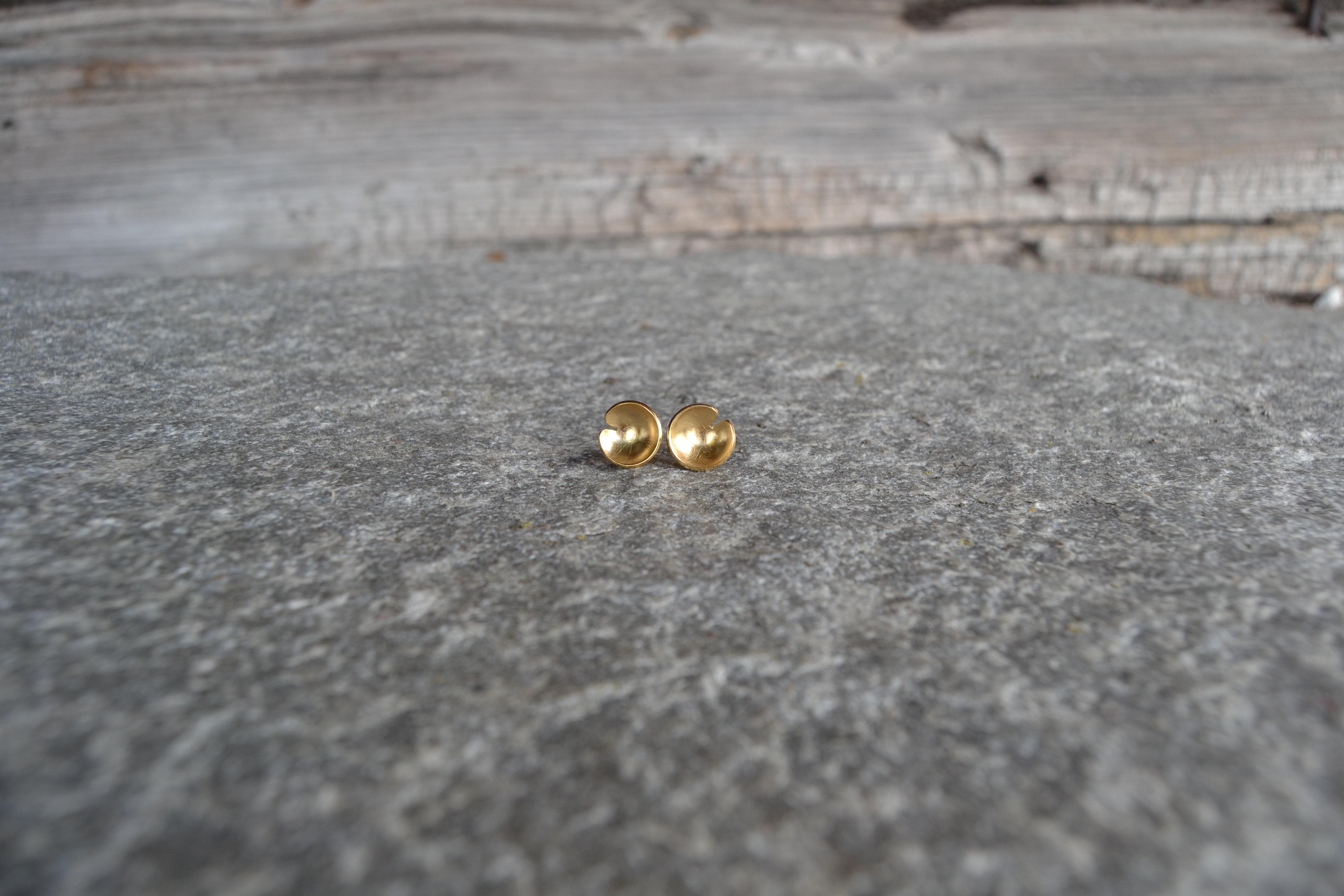 Lillenøkken forgylte øredobber i 925 sølv