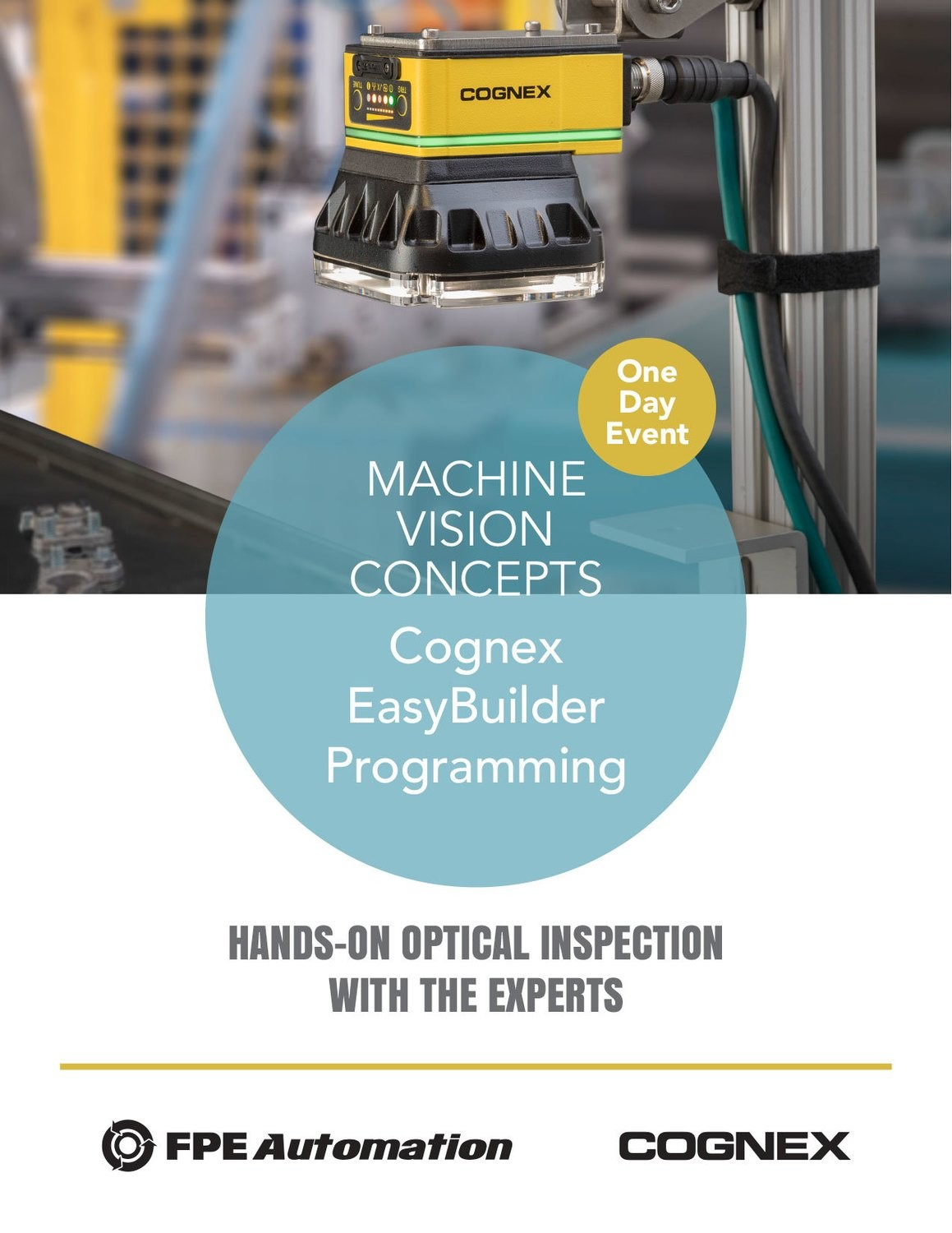 One Day Event: Machine Vision Concepts and Cognex