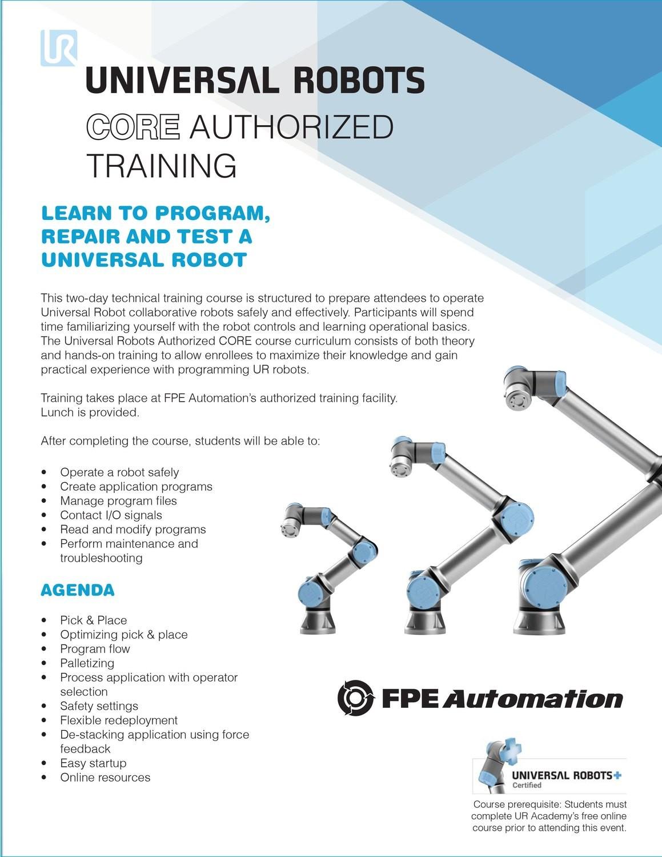 Universal Robots Authorized CORE Training