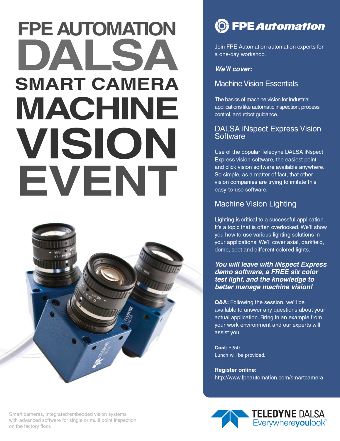 Machine Vision Event with FPE Automation and Dalsa