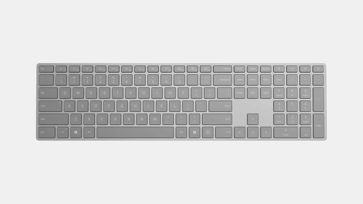 Clavier Surface - Sans fil Connectivité - Bluetooth - Gris de Microsoft