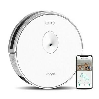 Aspirateur robot  Ironpie m6 navigation visuelle intelligente/ connectivité WiFi/surveillance à distance - Blanc de Trifo