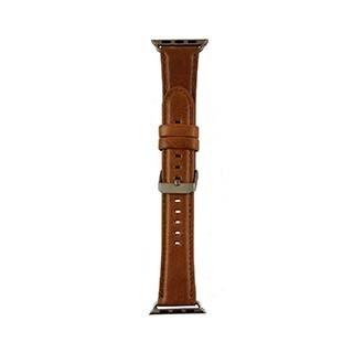 Bracelet Classic en cuir véritable pour montre Apple 44/42mm, fauve de Uunique