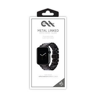Bracelet chaîne métallique pour montre Apple Watch de 42 mm, noir/gris de Case-Mate