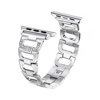Bracelet Aurora de 44/42 mm pour montre Apple, argent de Uunique