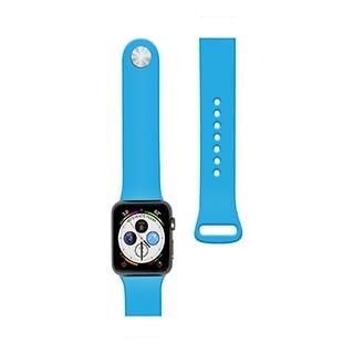 Bracelet en silicone de 44/42 mm pour montre Apple bleu de Naztech