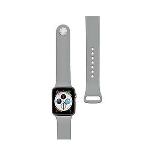 Bracelet en silicone de 44/42 mm pour montre Apple gris de Naztech