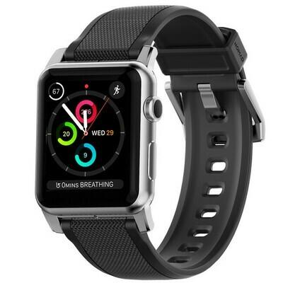 Bracelet Apple Watch Robuste Argent 42mm de Nomad
