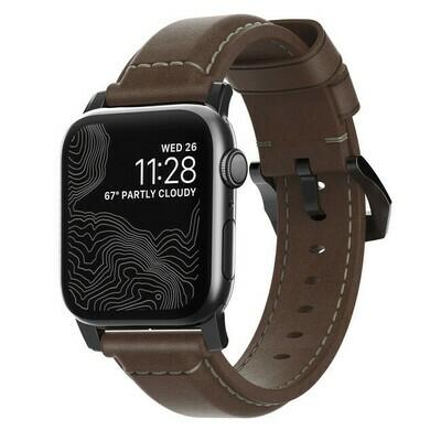Bracelet en Cuir Horween Apple Watch 42mm Marron de Nomad