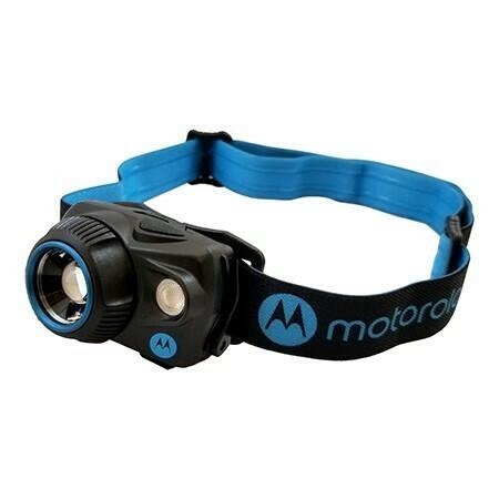 Lampe frontale DEL 250 Lumen avec Détection de Mouvement et Faisceau réglable Spot-To-Flood MHP250 de Motorola