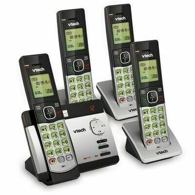 Système téléphonique CS5119-4 DECT 6.0 sans fil extensible avec 4 combinés  de Vtech