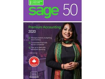 Logiciel de comptabilité supérieur 2 utilisateurs SAGE 50 2020 CA  CPRM2020RT de Sage