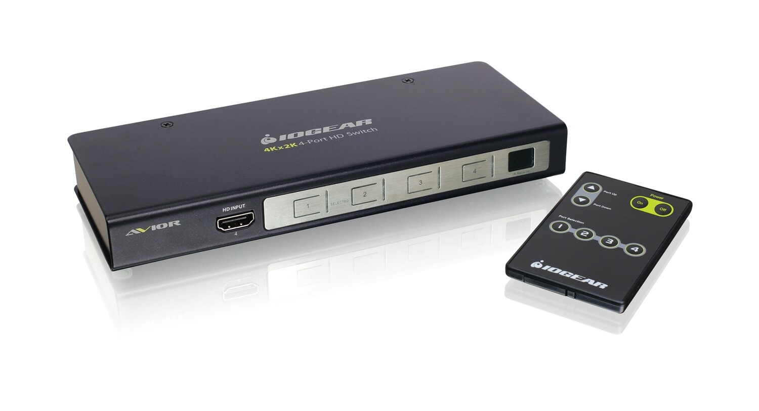 4K UHD 4-Port HDMI Switch with RS-232 Support