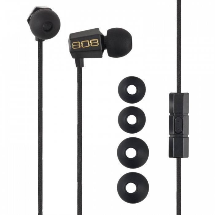 BUDZ Écouteurs à suppression du bruit Noir HPA115BK de 808 audio
