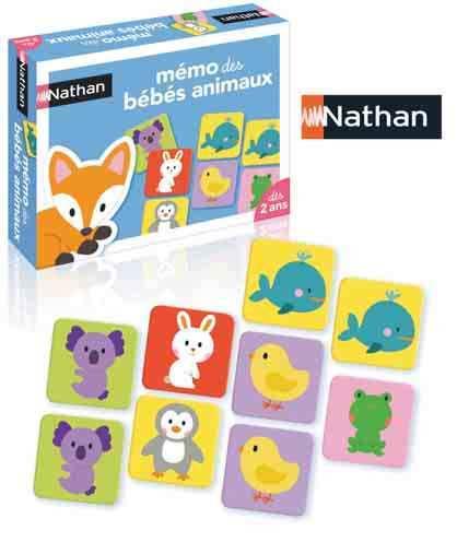 Jeu de mémoire Mémo des bébés animaux de Nathan