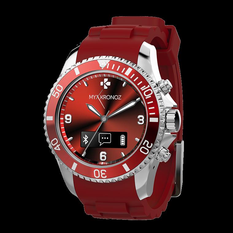 Montre connectée analogique avec mouvement à quartz ROUGE KRZECLOCK-RED DE MyKronoz