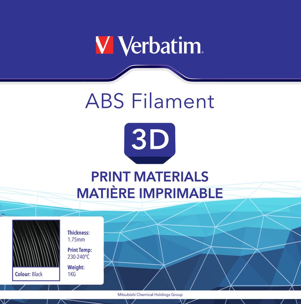 Filament ABS pour imprimante 3D diamètre 1,75 mm  noir 55000 de Verbatim