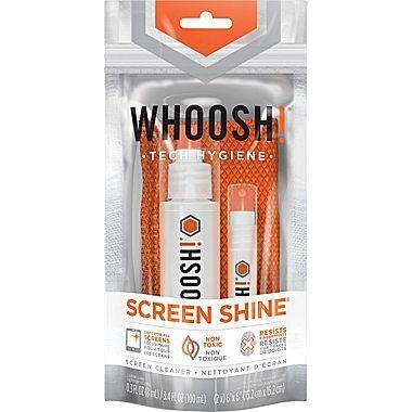 Trousse de nettoyage d'écran Shine Duo, 100 ml + bouteilles de 8 ml + 2 chiffons de Whoosh