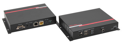 HDMI + USB + LAN over UTP Extender with HDBaseT™ and PoH (Sender + Receiver )