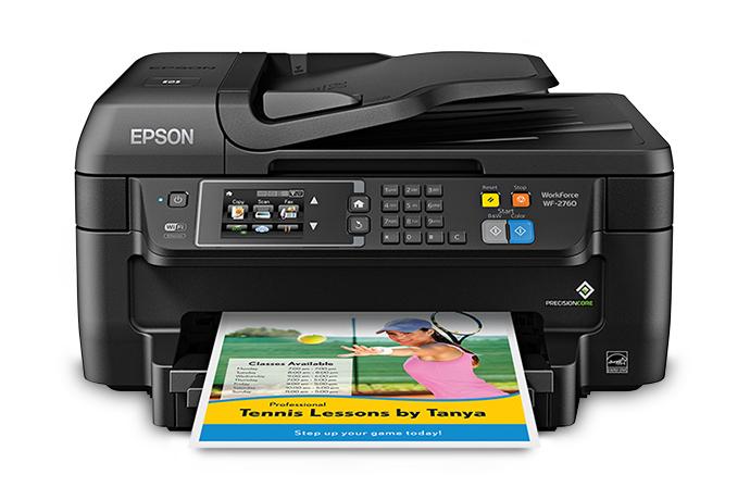 Imprimante multifonction 4-en-1 jet d'encre WorkForce® WF-2760 de Epson