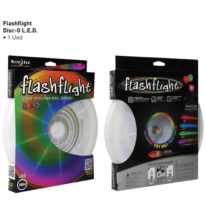 Disque volant Flashflight® à D.E.L. FFD-08-07  de Nite Ize