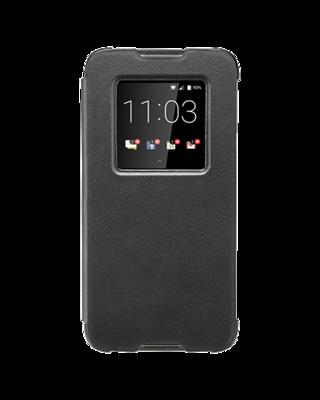 Étui à Rabat Élégant en Cuir Noir pour DTEK60 ACC63072001 de BlackBerry®