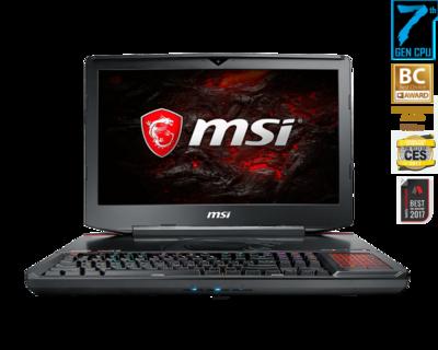 Ordinateur portable 18po Titan SLI I7-7920/1070SLI/32GB/512GBSSD+1T GT83VR 7RE de MSI