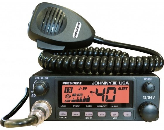 Poste de radio-CB JOHNNY III USA 12/24V TXMU653 de PRESIDENT ELECTRONICS