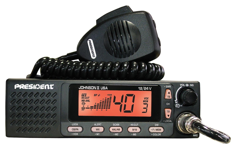Poste radio-CB AM JOHNSON II USA TXUS667 12/24V de PRESIDENT ELECTRONICS