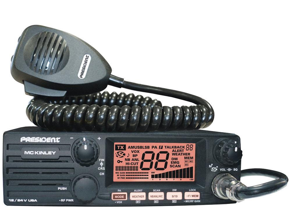 Poste radio-CB AM/SSB MC KINLEY USA 12/24V TXUS600 de PRESIDENT ELECTRONICS