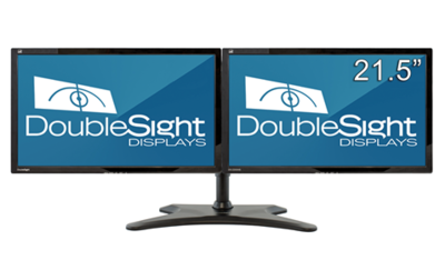 Ensemble 2 écrans 21,5po  et support Easy Stand de DoubleSight Displays