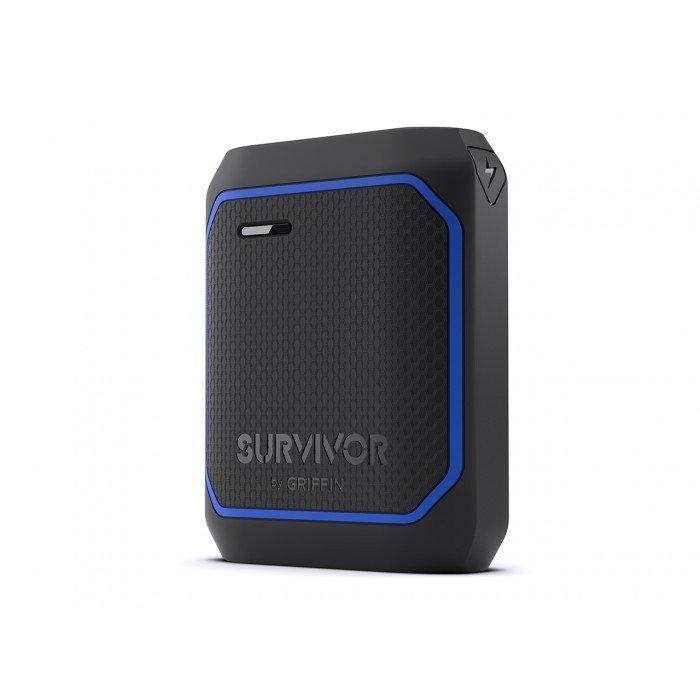 Chargeur portable de 10 050 mAh Survivor™ GC42498 noir et bleu de Griffin