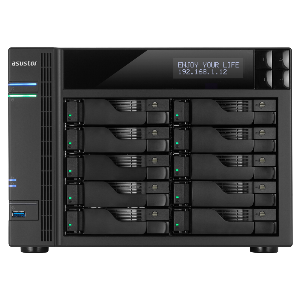 NAS 10 baies i3 3.5 GHz Dual-Core/2G AS7010T de Asustor