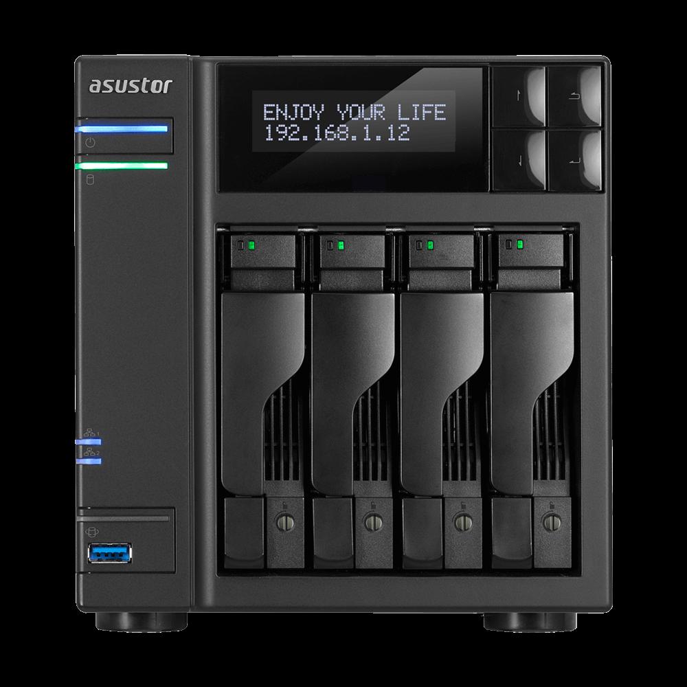 NAS 4 baies celeron Quad-Core/8G AS6404T de Asustor