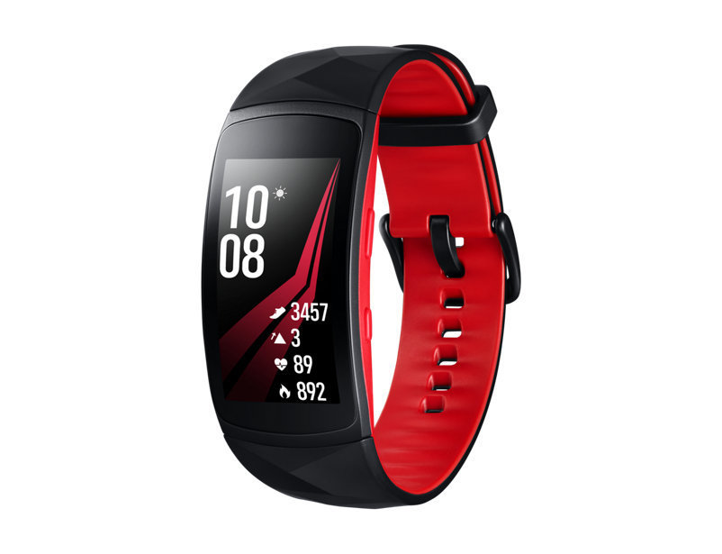 Montre Gear Fit2 Pro large rouge SMR365NZRAXAC de Samsung