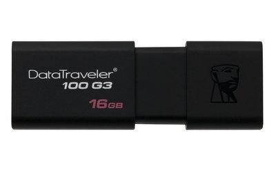 Clé USB DataTraveler 100 G3 de 16G DT100G316GBCRCA de Kingston
