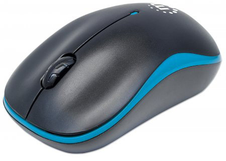 Souris optique sans fil 179416 Success, bleu/noir de Manhattan