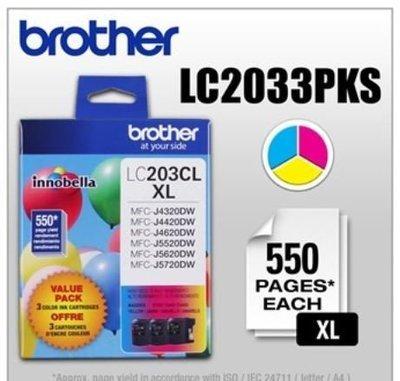 Cartouches d'encre paquet de trois Innobella couleur de Brother