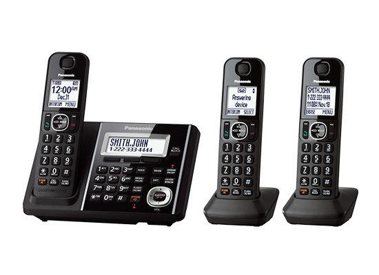 Système téléphonique numérique sans fil avec répondeur et 3 combinés  KX-TGF343B  de Panasonic
